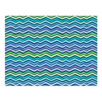 Multi Colored and Layered Chevron Postcard