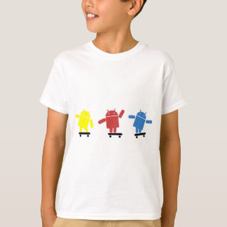 Multi Colored Android Skateboarder T-Shirt