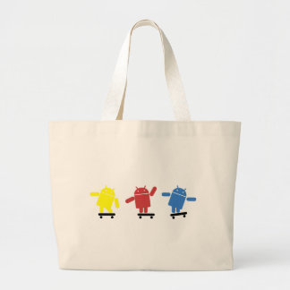 Multi Colored Android Skateboarder Jumbo Tote Bag
