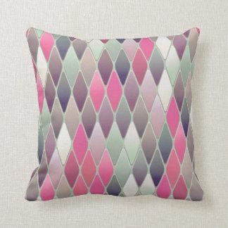 Multi Colored Argyle Throw PIllow