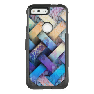 Multi Colored Basket Weave Design OtterBox Commuter Google Pixel Case