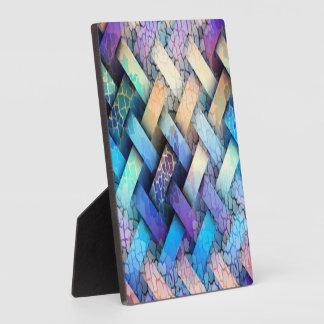 Multi Colored Basket Weave Design Plaque