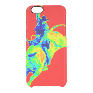 Multi-Colored Bull Rider Clear iPhone 6/6S Case