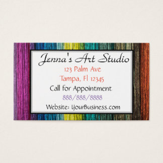Multi Colored Business Card