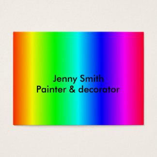 Multi-colored business card customize-able