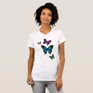 Multi colored Butterfies, Swallow tail Butterfly T-Shirt