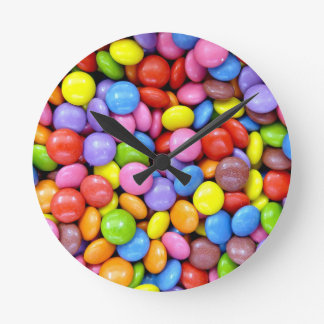 Multi-Colored Candy Round Clock