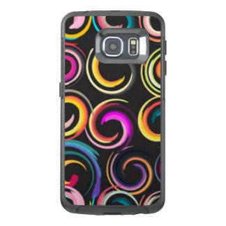 Multi Colored Circles Pattern Print Design OtterBox Samsung Galaxy S6 Edge Case