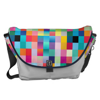 Multi Colored Design Large Commuter Bag