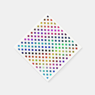 multi-colored Diamonds Disposable Serviette
