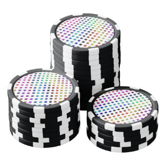 multi-colored Diamonds Poker Chips