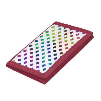 multi-colored Diamonds Trifold Wallet