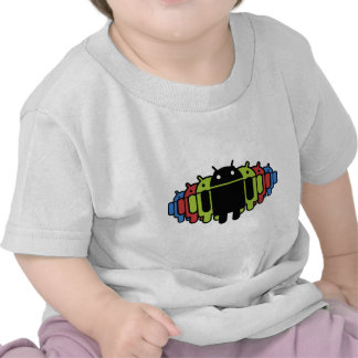 Multi colored Droid Army Tshirts