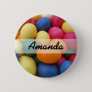 Multi colored Easter Eggs Festive 6 Cm Round Badge