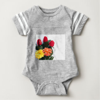 Multi-Colored Flowers Baby Bodysuit
