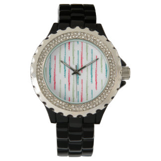 Multi Colored Flutes Watch