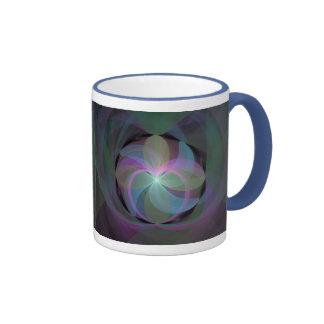 Multi Colored Fractal Fan Mugs