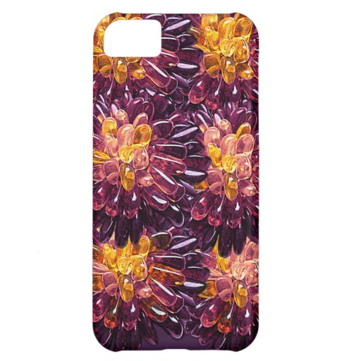 Multi Colored Gem Jewel Flower Abstract iPhone 5C Covers