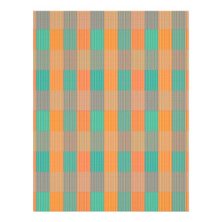 """Multi Colored Geometric Square & Stripes"" Flyer"