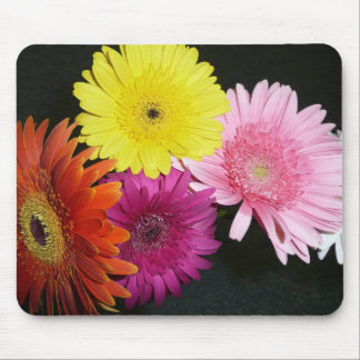 Multi colored gerbers mouse pads