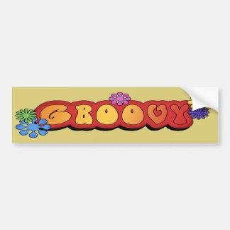 Multi-colored Groovy Bumper Sticker