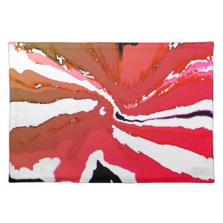 Multi-colored Jewel Toned Red Cloth Placemats