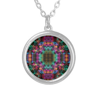 Multi-colored Kaleidoscope Silver Plated Necklace