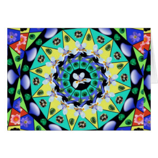 Multi Colored Kaliedoscope Card