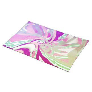 Multi-colored Marbled Art Placemats Place Mat