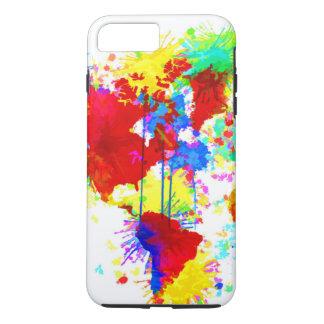 Multi-Colored Paint Splatter iPhone 7 Plus Case