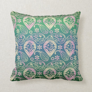Multi Colored Paisley Cushion