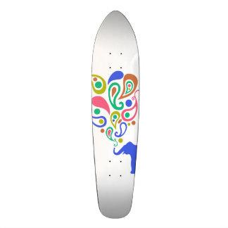 Multi-Colored Paisley Elephant Pattern Design Custom Skateboard