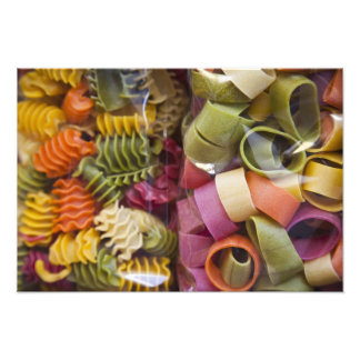 Multi colored pasta, Torri del Benaco, Verona Photographic Print