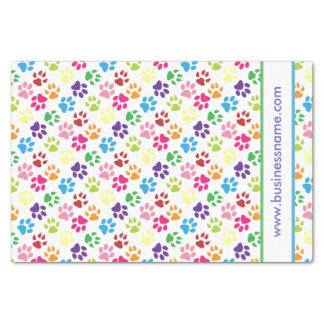 Multi-Colored Paw Prints Tissue Paper