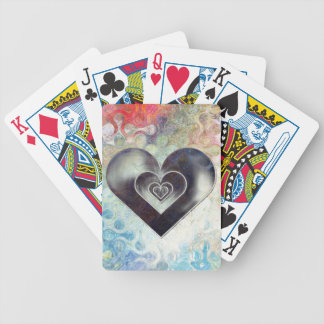 Multi Colored Pencil Sketching Abstract Heart Bicycle Playing Cards