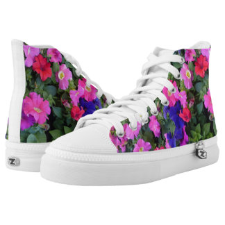Multi Colored Petunia Flower Shoes