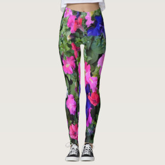 Multi Colored Petunia Leggings