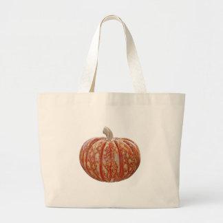Multi Colored Pumpkin Large Tote Bag
