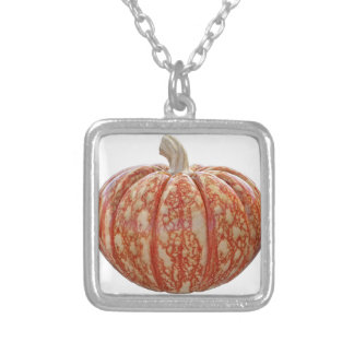 Multi Colored Pumpkin Silver Plated Necklace