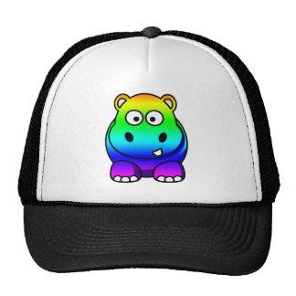 Multi Colored , Rainbow Hippo Cap