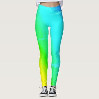 Multi Colored Rainbow Leggings
