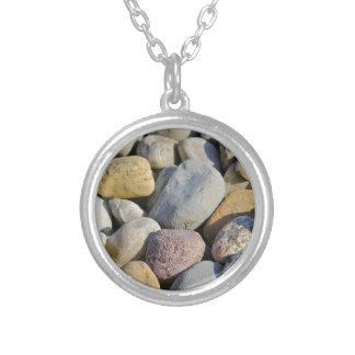 Multi colored rocks necklaces
