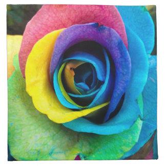 "Multi-Colored Rose Cloth Dinner Napkins 12"" x 12"""