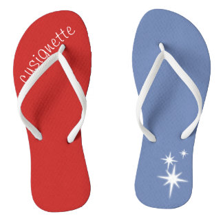 multi colored slippers thongs