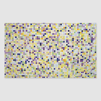 Multi Colored Small Square Tiles Rectangular Sticker