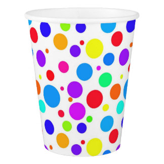 Multi Colored Spots Paper Cup
