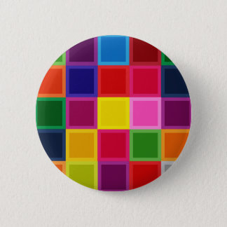 Multi Colored Squares and Stripes Girly 6 Cm Round Badge
