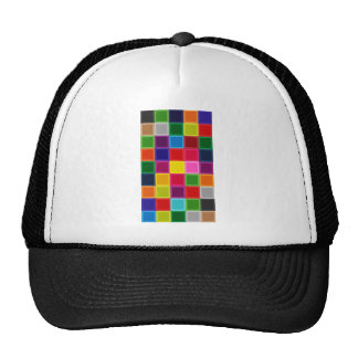 Multi Colored Squares and Stripes Girly Cap