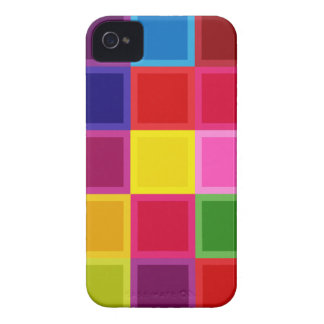 Multi Colored Squares and Stripes Girly iPhone 4 Case-Mate Cases
