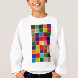 Multi Colored Squares and Stripes Girly Sweatshirt